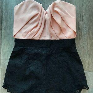 ASOS Petite Pink/Black Romper